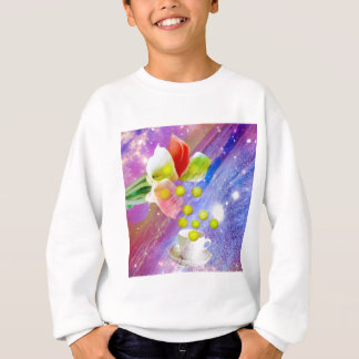 Lilies drop tennis balls to celebrate . sweatshirt