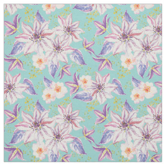 Lilies flower pattern - floral pattern fabric