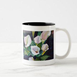 Lilies from my Garden Two-Tone Coffee Mug