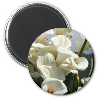 Lilies growing at Calla Lily Plantation, Taiwan 2 Inch Round Magnet
