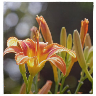 Lilies in the Sunshine Printed Napkin