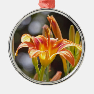 Lilies in the Sunshine Silver-Colored Round Ornament