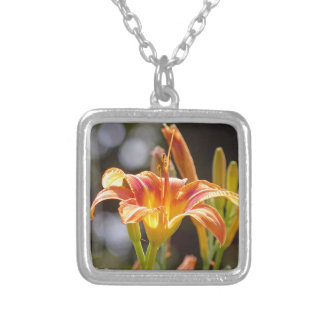 Lilies in the Sunshine Silver Plated Necklace