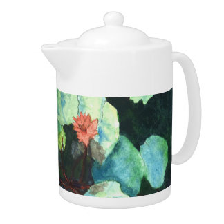 Lilies In Water Tropical Tea Pot – On Vacation!