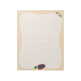 Lilies & Lilacs Notepad