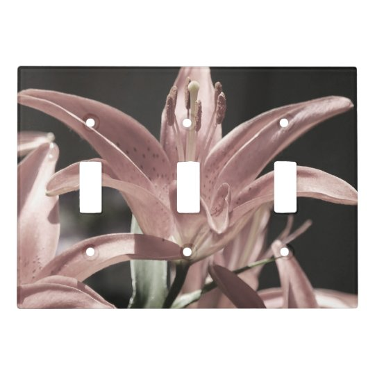 Lilies-Muted Tones by Shirley Taylor Light Switch Cover