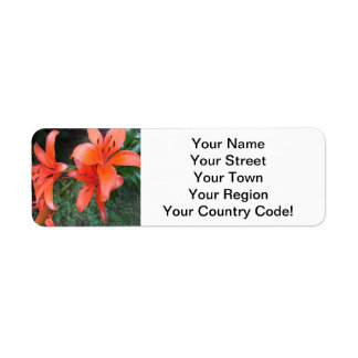 Lilies Orange Garden Return Address Label