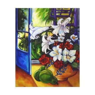 Lilies & Pears - Canvas Print