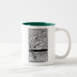 Lilies Two-Tone Coffee Mug