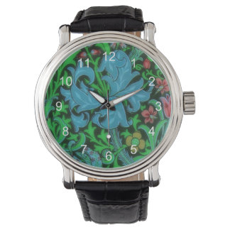 Lilies Vintage Floral Pattern Watches