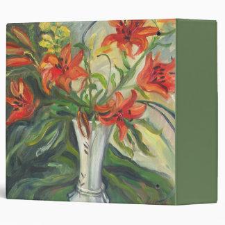Lilies Vinyl Binder