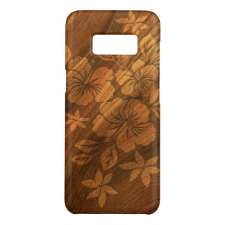 Lilikoi Hibiscus Hawaiian Faux Burl Wood Case-Mate Samsung Galaxy S8 Case