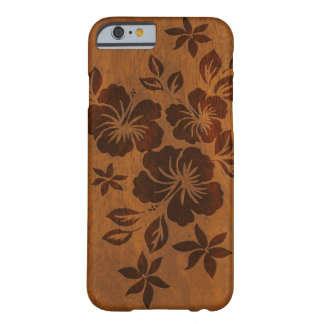 Lilikoi Hibiscus Hawaiian Faux Wood Barely There iPhone 6 Case