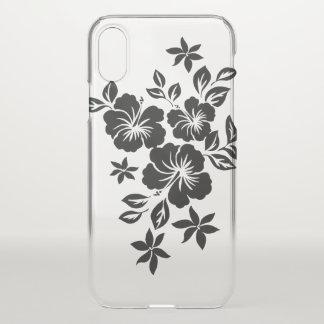 Lilikoi Hibiscus Hawaiian Floral Black iPhone X Case