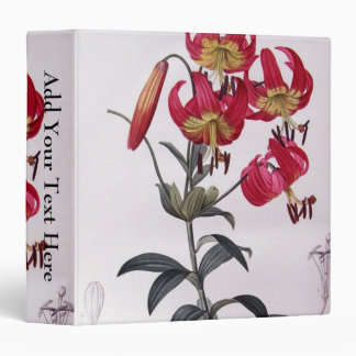 Lilium Superbum, Pierre Joseph Redouté Vinyl Binders