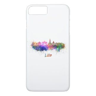 Lille skyline in watercolor iPhone 7 plus case