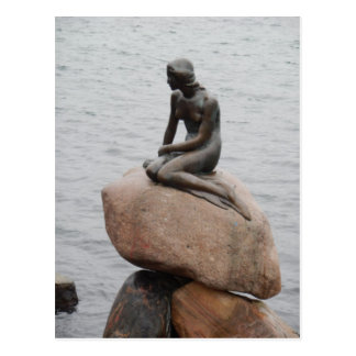Lillehavefru Little Mermaid Copenhagen Denmark Postcard