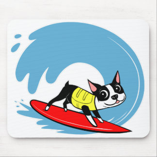 Lilli Chin Surfing Boston Mouse Pad