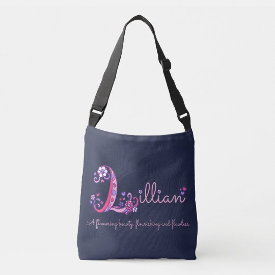 Lillian name and meaning monogram bag