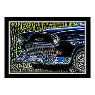 Lillian Photography HDR  1955 Grille Poster