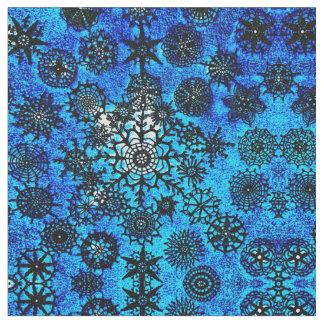 Lillian's Aqua Snowflake Fabric