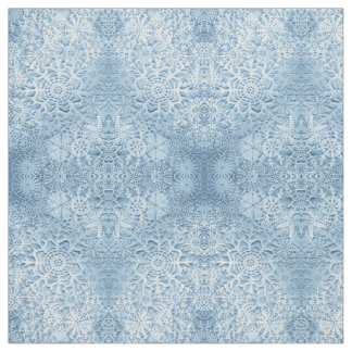 Lillian's Baby Blue Snowflakes Fabric