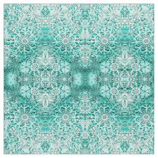 Lillian's Emerald Green Snowflakes Fabric