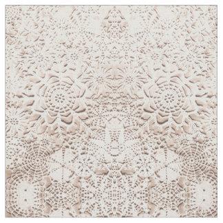 Lillian's Vanilla Cream Snowflakes Fabric