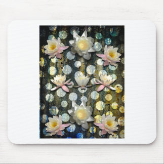 LILLIES AND POLKA DOTS MOUSE PAD