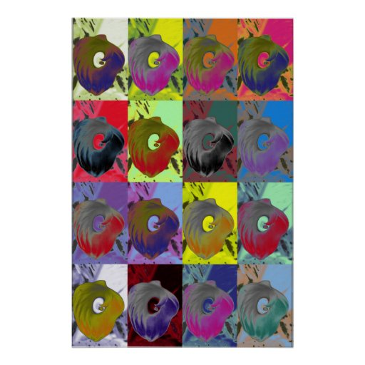 Lillies Pop Art Print