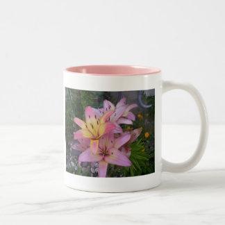 Lillies - Springtime Two-Tone Coffee Mug