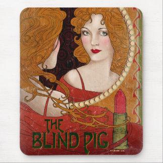 L'illustration aveugle de cru de porc tapis de souris