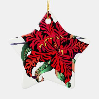 Lilly Ceramic Star Ornament