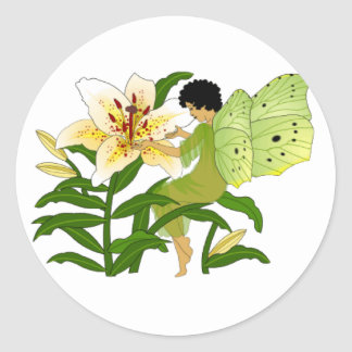 Lilly Fairy Classic Round Sticker