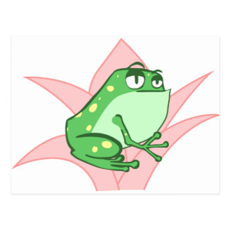 Lilly Frog Postcard