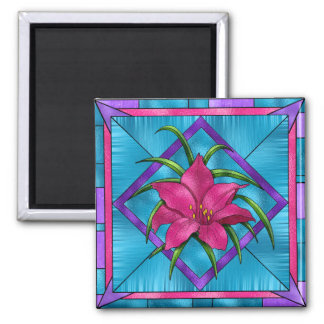 Lilly in Stained Glass Magnet