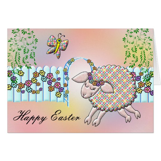 Lilly Lamb's Happy Easter Card