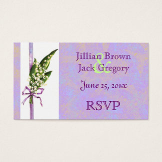 Lilly of the Valley BRIDAL RSVP card