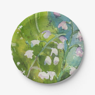 Lilly of the Valley paper plate