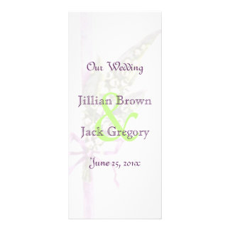 Lilly of the Valley Wedding Program Customized Rack Card