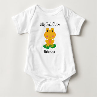 Lilly Pad Cutie Frog Baby Jersey Bodysuit