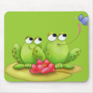 Lilly Pad Frogs Mousepad