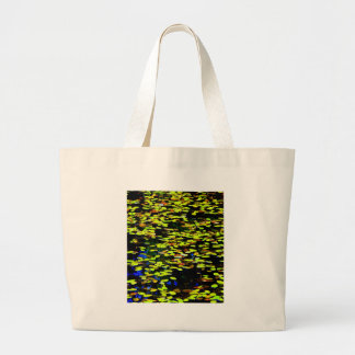 Lilly Pads on Pond Large Tote Bag