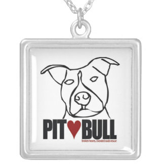 Lilly - Pit Bull Love Silver Plated Necklace