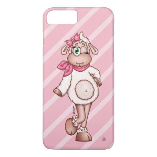 Lilly The Sheep Wearing Scarf and a Bow. iPhone 8 Plus/7 Plus Case