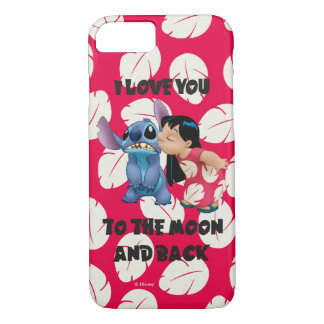 Lilo & Stich | I Love You To The Moon iPhone 8/7 Case