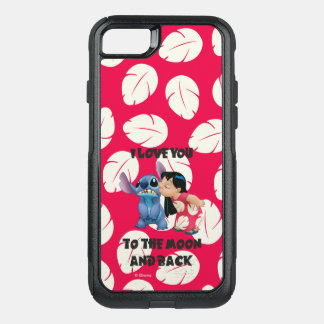 Lilo & Stich | I Love You To The Moon OtterBox Commuter iPhone 8/7 Case