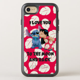 Lilo & Stich   I Love You To The Moon OtterBox Symmetry iPhone 8/7 Case
