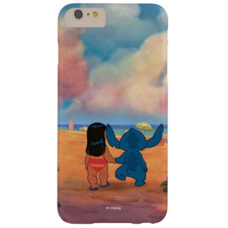 Lilo & Stich  Lilo & Stitch At The Beach Barely There iPhone 6 Plus Case