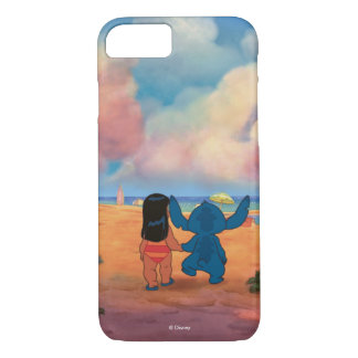 Lilo & Stich |Lilo & Stitch At The Beach iPhone 8/7 Case